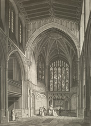 Internal view of the chancel of St Margaret's Church, Westminster. 24-c-1